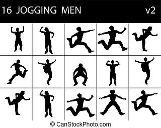 mężczyźni, młody, atak