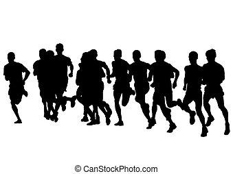 mężczyźni, pasaż, lekkoatletyka