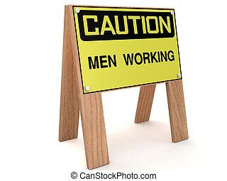 mężczyźni pracujący, powierzchnia