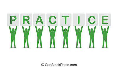 mężczyźni, słowo, dzierżawa, practice.