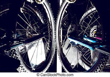 męczy, bicycles, na wolnym powietrzu, od drogi