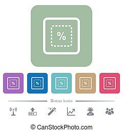 měřítko, cíl, do, procent, byt, ikona, dále, barva, kulatý, čtverec, grafické pozadí
