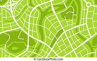 město, abstraktní, mapa, banner.
