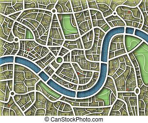 město, bezejmenný, mapa