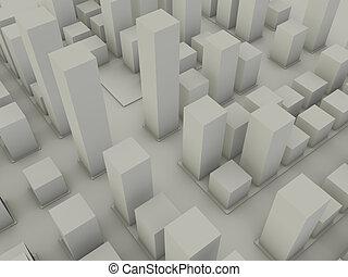 město, blokáda