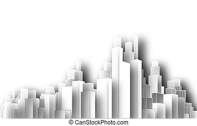 město, cutout