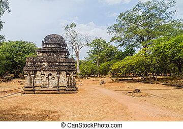 město, lan, starobylý, ne, polonnaruwa, sri, shiva, 2, devale, troska