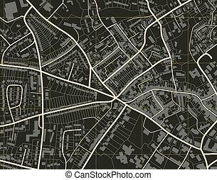 město, mapa