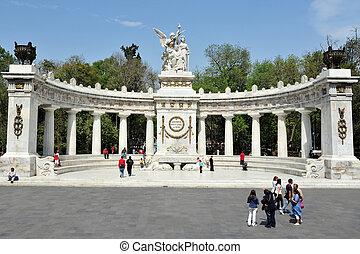 město, mexiko, pomník