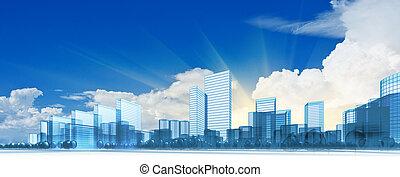 město, moderní