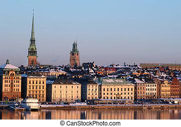 město, stockholm