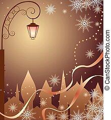 město, vánoce
