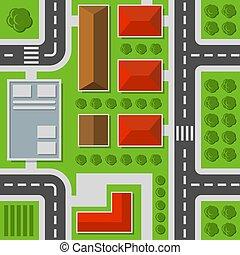 město, velkoměsto zakreslení, hlava, pattern., seamless, vektor, ohledat.
