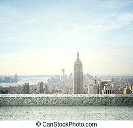 město, ??view