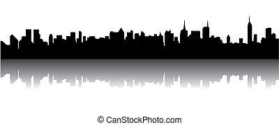 městská silueta
