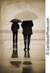 městský, déšť