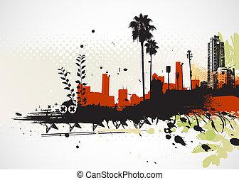 městský, grafické pozadí