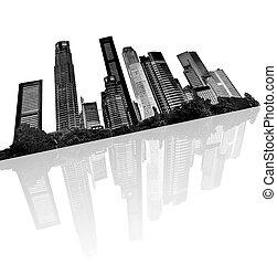 městský městská silueta