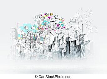 městský výjev
