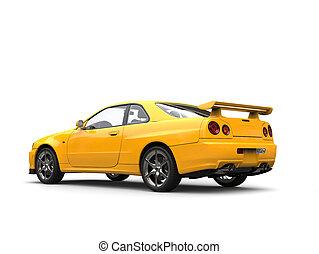 městský, vůz, moderní, -, bystrý, zbabělý, sportovní, chvost, profil