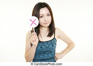 młoda kobieta, dzierżawa, niejaki, x, marka, znak
