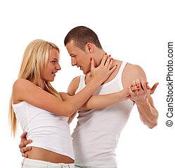 młoda para taniec