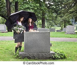 młody, żałobnicy