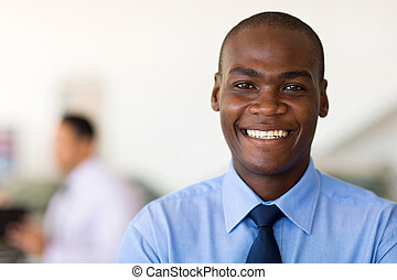 młody, afrykańska amerikanka, biznesmen