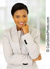 młody, afrykańska amerikanka, handlowa kobieta