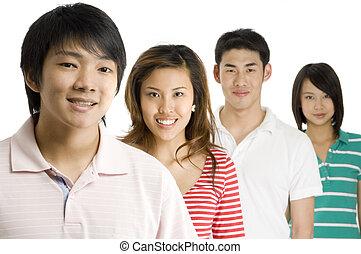 młody, asians
