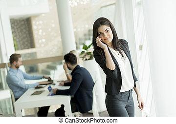 młody, biuro, pracujące ludzie