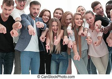 młody, coś, razem, spoinowanie, grupa, ludzie