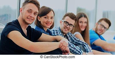 młody, grupa ludzi, reputacja, togethe
