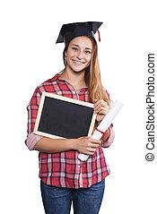młody, student