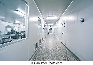 műszaki, dolgozó, alatt, a, gyógyszerészeti, szériagyártás