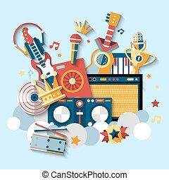 műszerek, állhatatos, zenés