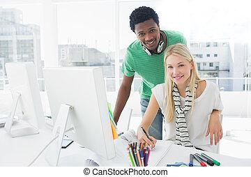művész, rajz, valami, képben látható, dolgozat, besides, kolléga, -ban, hivatal
