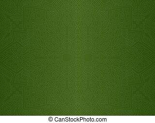 művészet, elvont, lineáris, zöld, seamless, motívum