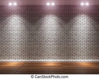 művészet, erkély,  3d-rendering