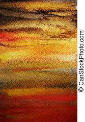 művészet, festett, kéz, vízfestmény, fényes, drámai, tervezés, háttér