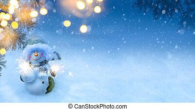 művészet, karácsony, ünnepek, háttér