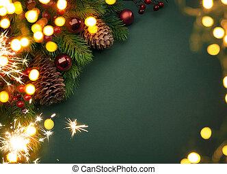 művészet, karácsony, kártya, köszönés