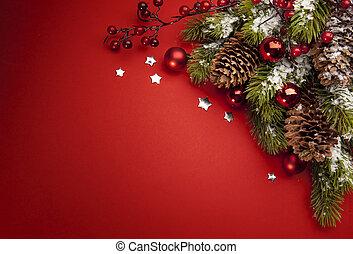művészet, karácsony, köszönés kártya