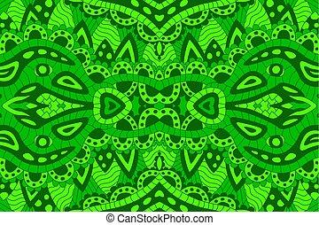 művészet, motívum, elvont, seamless, zöld, egyenes