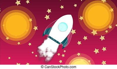 művészet, render, rakéta kilő, ég, hely, startup, kreatív, gondolat, csillaggal díszít, tervezés, dohányzik, hajó, felderítés, karikatúra, 3