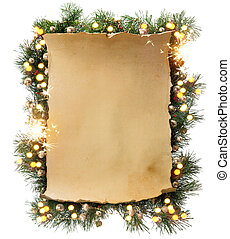 művészet, tél, karácsony, keret