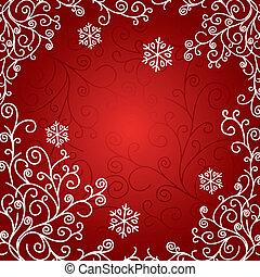 művészi, kártya, karácsony