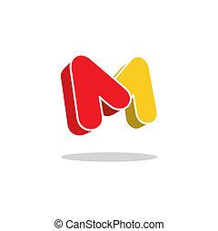 m, 手紙, 印