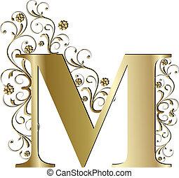 m, brief, gold, hauptstadt