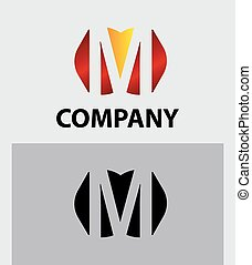 M company vector logo and symbol